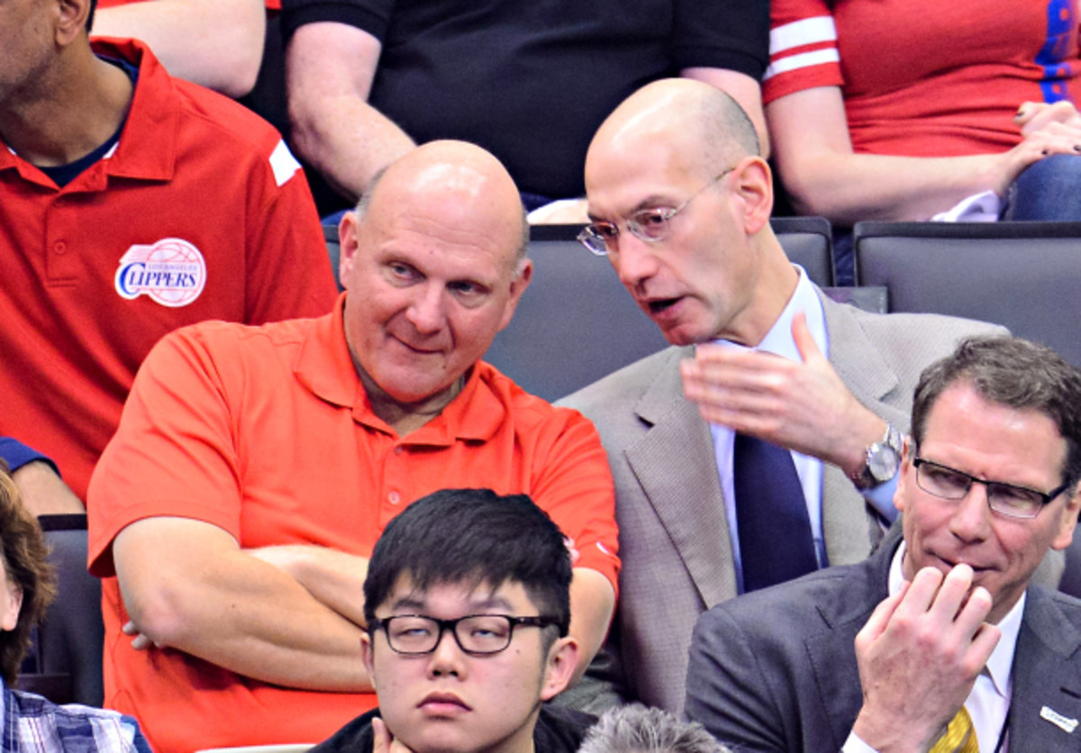 Steve Ballmer has signed a $2billion agreement to buy the CLippers.. (Noel Vasquez/GC Images)