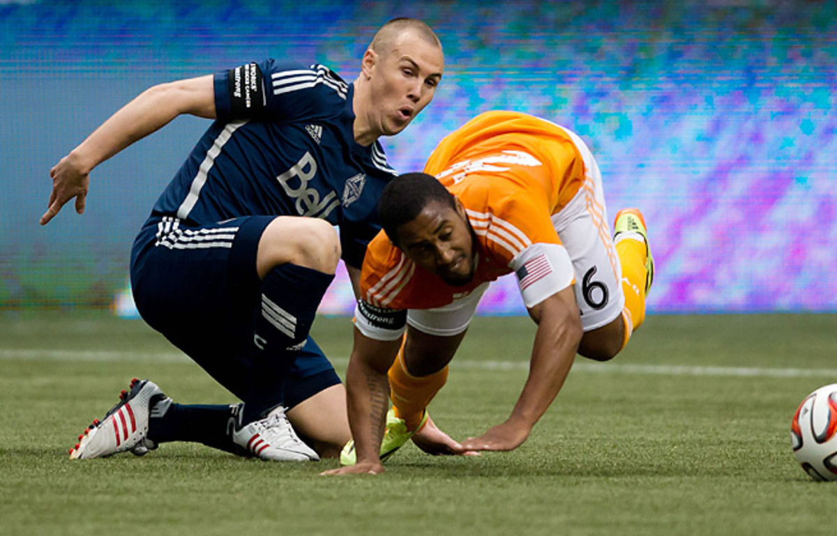 Kenny Miller's 58th-minute penalty kick gave Vancouver a lead it didn't give up against Houston.