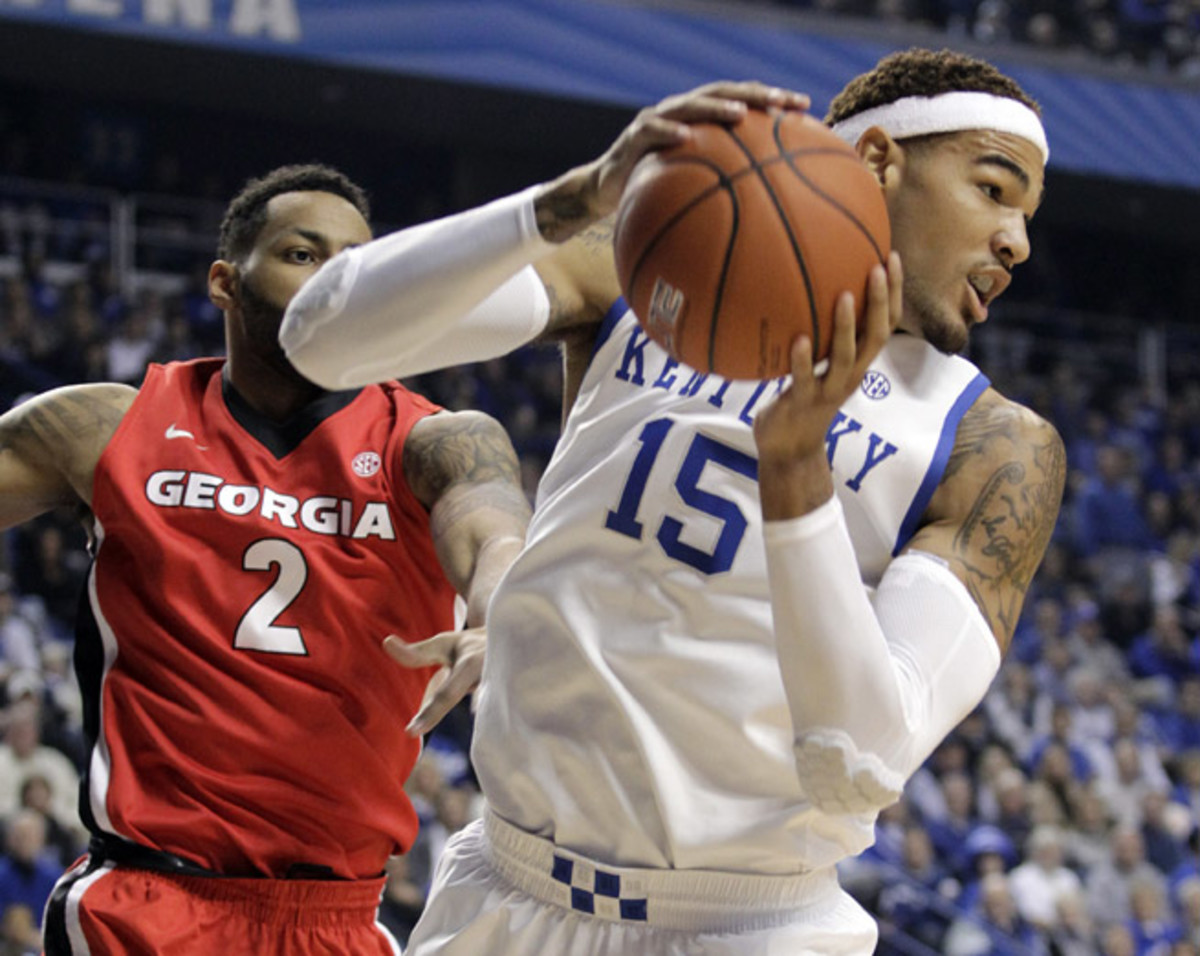 Despite deficiencies in his offensive game, Kentucky's Willie Cauley-Stein (15) is still a projected NBA lottery pick, should he leave school after his sophomore season.