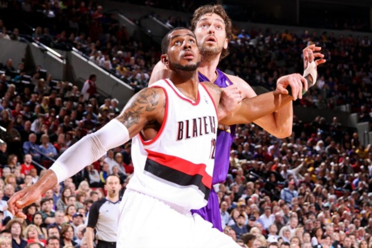 LaMarcus Aldridge reportedly is seeking a trade despite Portland's offseason additions. (Sam Forencich/NBAE via Getty Images)