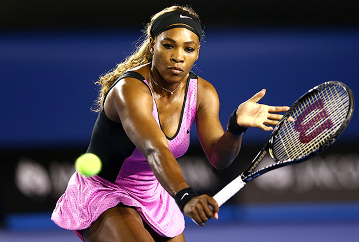 Serena Williams cleanly defeated 17-year-old Australian Ashleigh Barty. (Cameron Spencer/Getty Images)