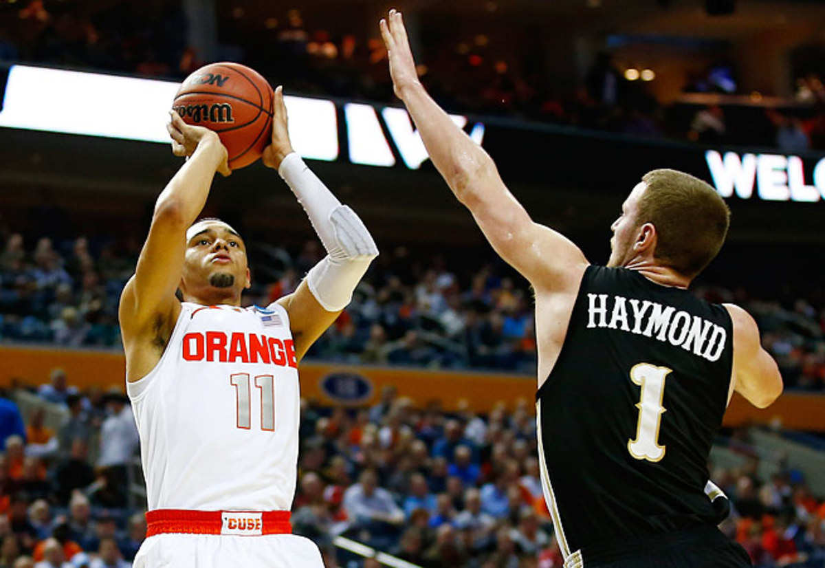 Tyler Ennis averaged 12.9 points, 3.4 rebounds and 5.5 assists for the Orange last season.