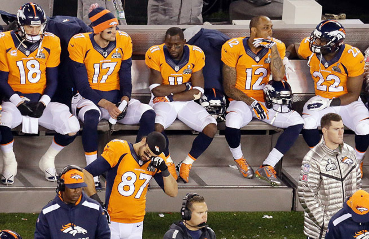 Statistically one of the greatest offenses of all time, Denver scored just eight points in the Super Bowl.
