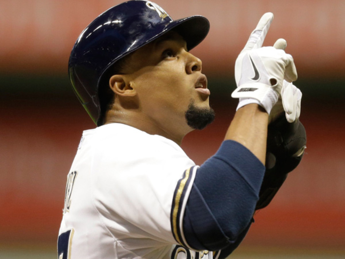 Carlos Gomez has evolved into one of baseball's best players. (Jeffrey Phelps/Getty Images)