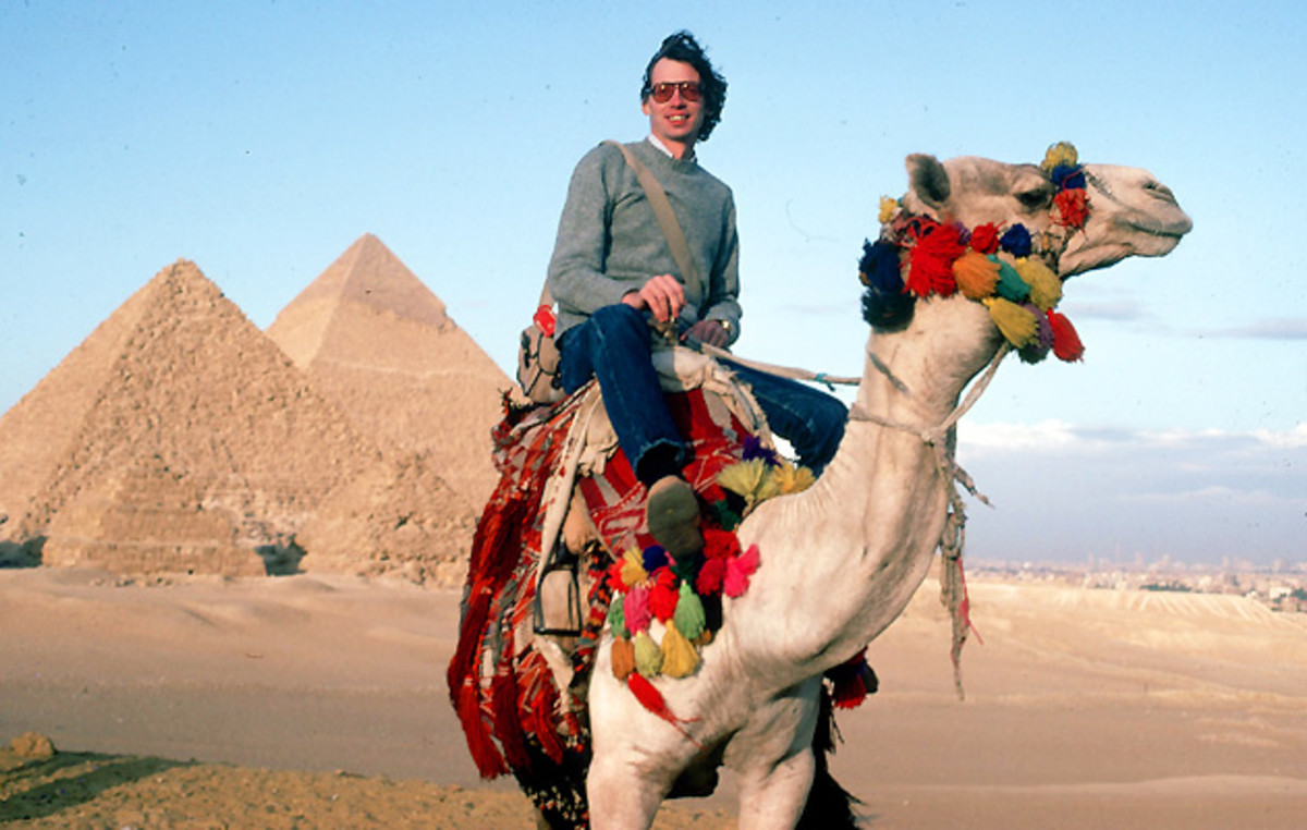 Finch visited Egypt on his way to Tibet and later sent these photos to Peterson.
