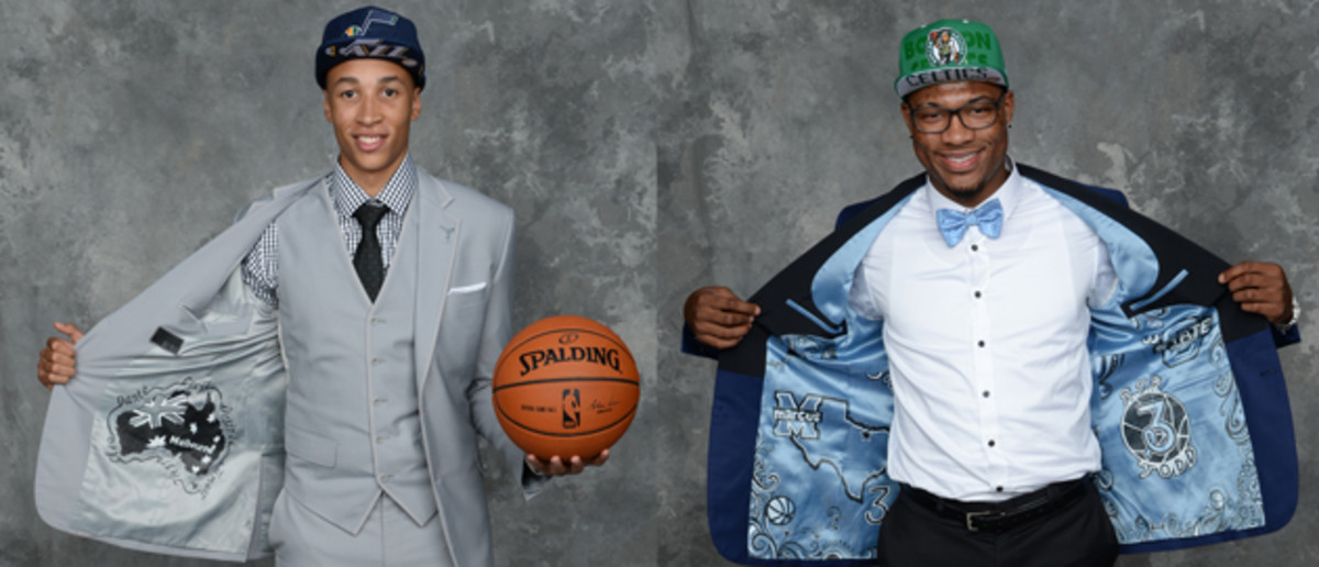 Custom jackets were all the rage at the 2014 NBA draft.