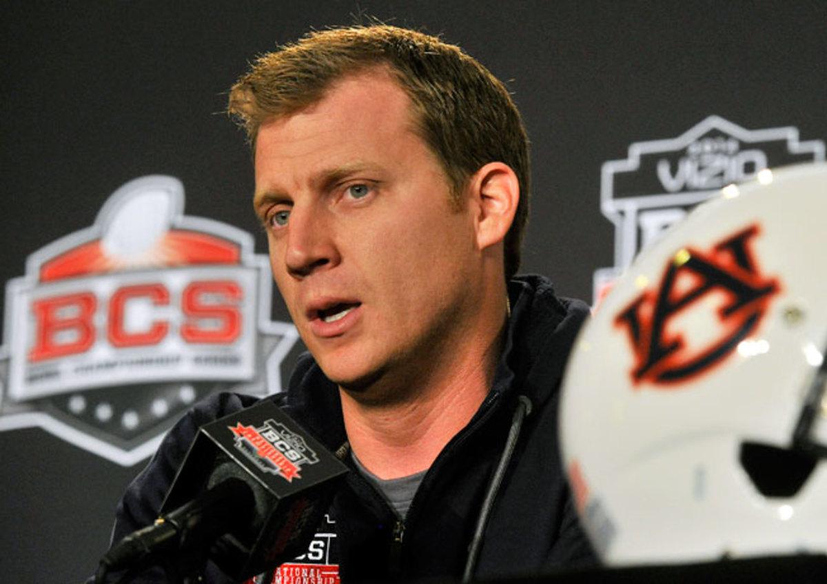 Auburn offensive coordinator Rhett Lashlee once played quarterback under Gus Malzahn in high school.