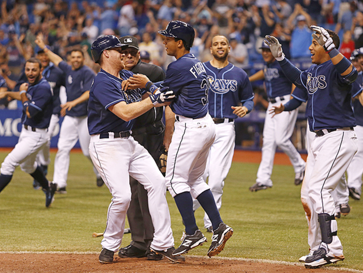Tampa Bay got its third straight walkoff win, after beating Boston in the 15th.