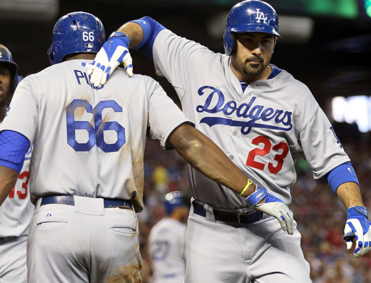 It's been smooth sailing for Adrian Gonzalez (right) and the Dodgers so far this season.