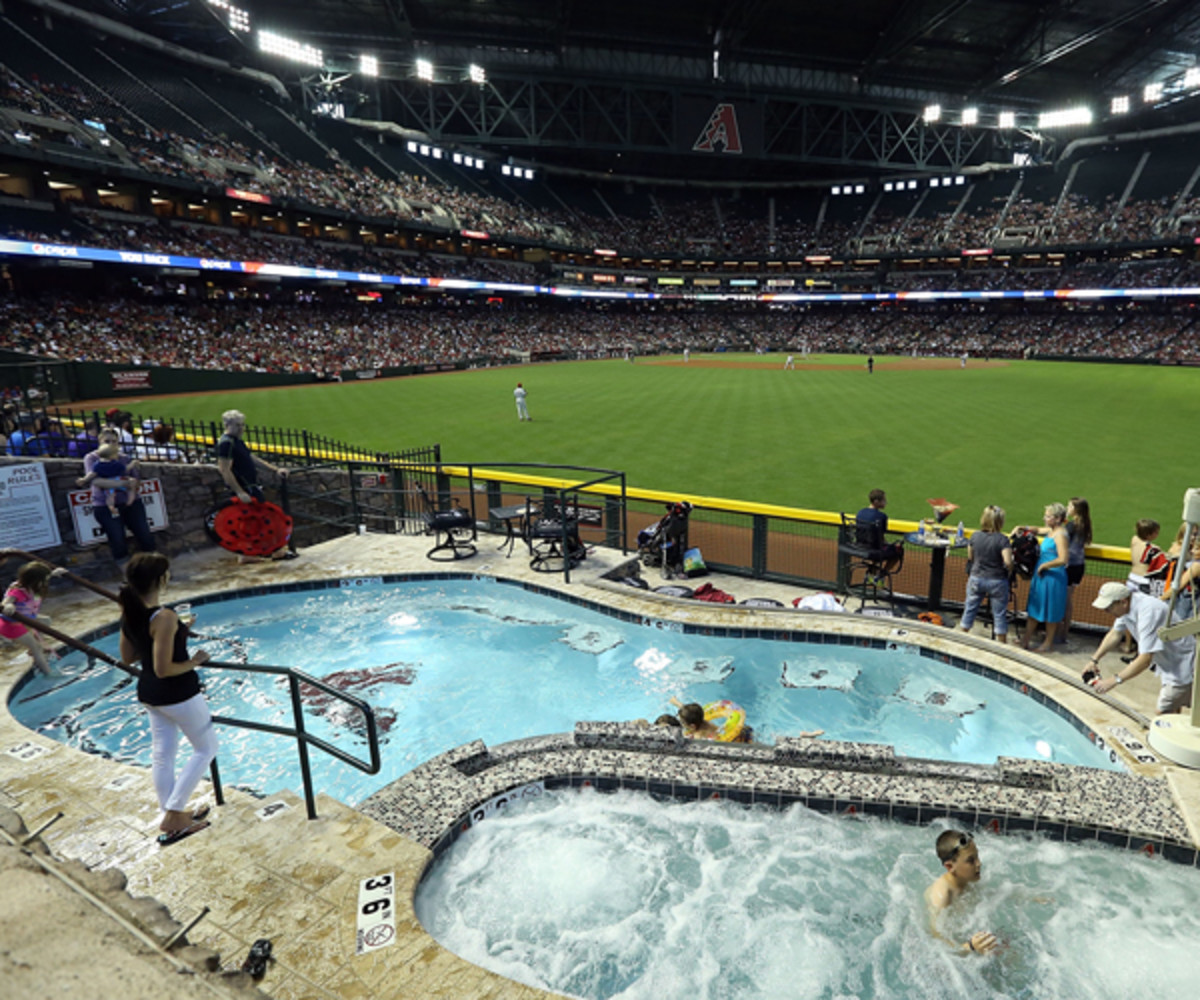Chase Field pool (Photo by Christian Petersen/Getty Images)