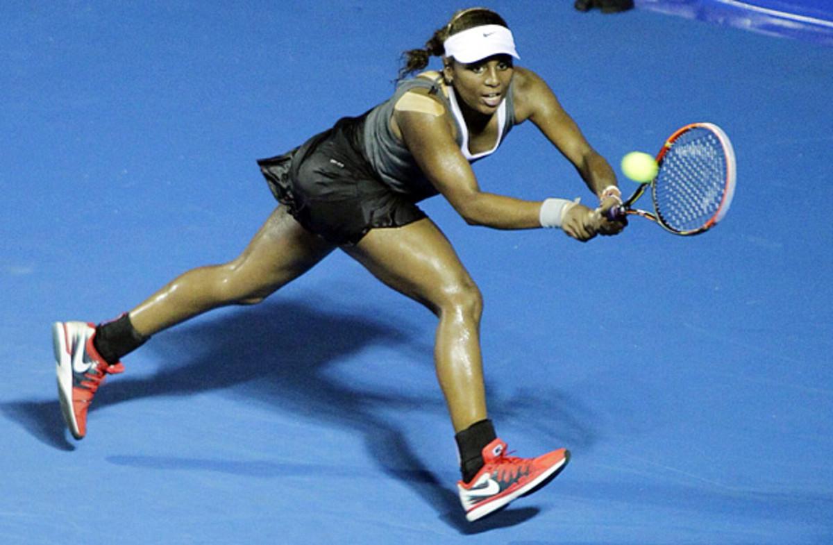 Tornado Alicia Black made her WTA Tour debut at the Mexican Open. (Jose Mendez/EPA)