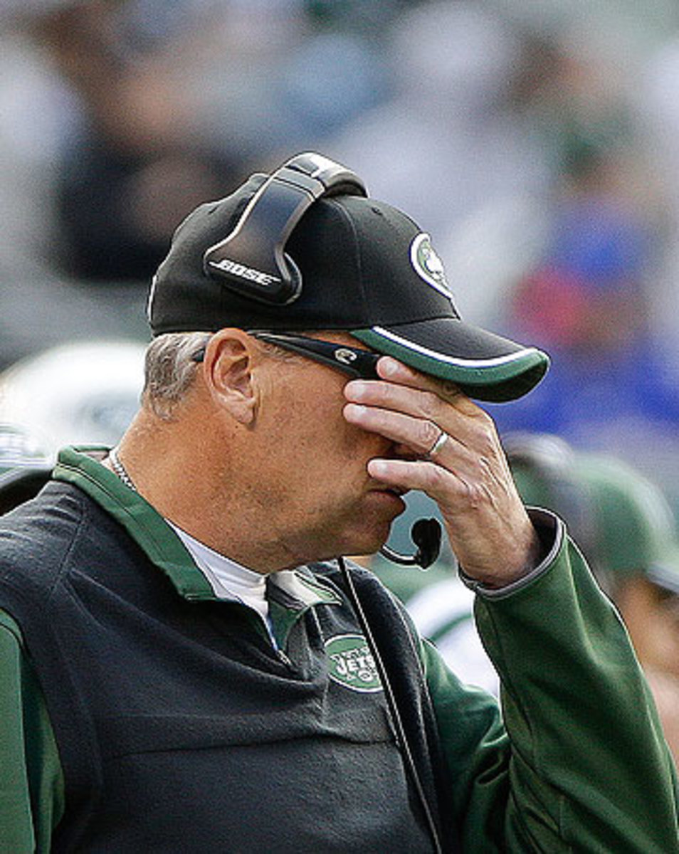 Rex Ryan's Jets were unwatchable as they dropped to 1-7 on the season. (Seth Wenig/AP)