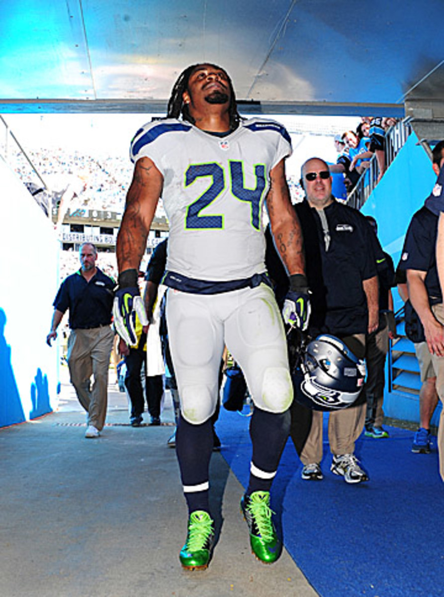 Marshawn Lynch may not be a Seahawk in 2015, but Seattle still needs him this season. (Scott Cunningham/Getty Images)