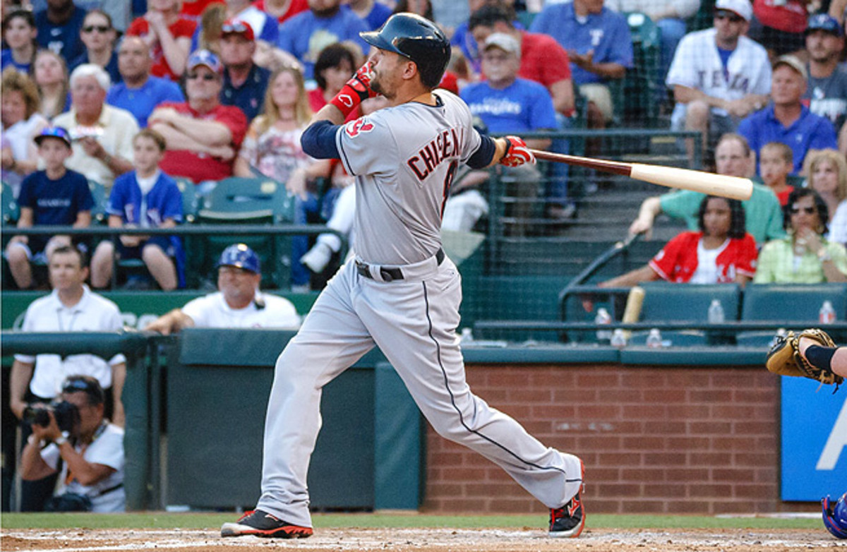Lonnie Chisenhall had a once-in-a-career night against the Rangers, going 5-for-5 with three homers.