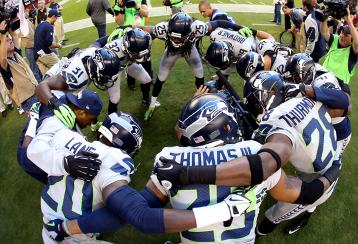 Seattle's 'Legion of Boom' secondary. (Christian Petersen/Getty Images)