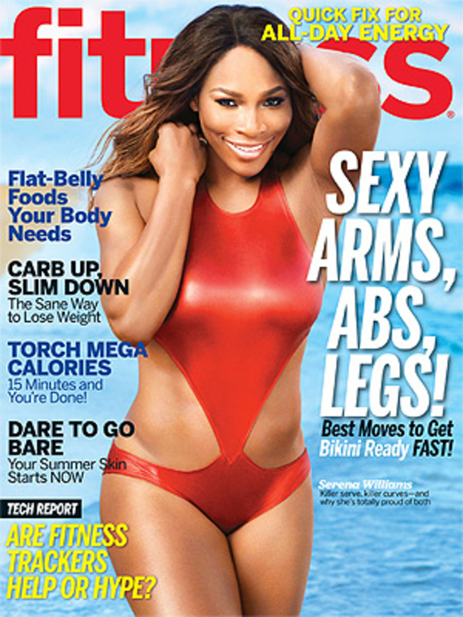 """In her interview, Serena says when she's not on the court, she's """"the class clown."""" (Jeff Olson/Fitness Magazine)"""