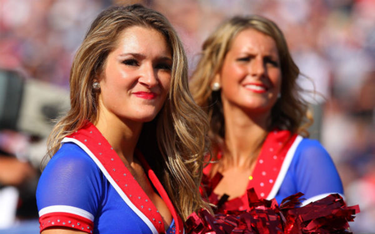 The NFL would not comment on lawsuits involving current and former cheerleaders, including one filed by some former members of the Buffalo Jills. (Tom Szczerbowski/Getty Images)