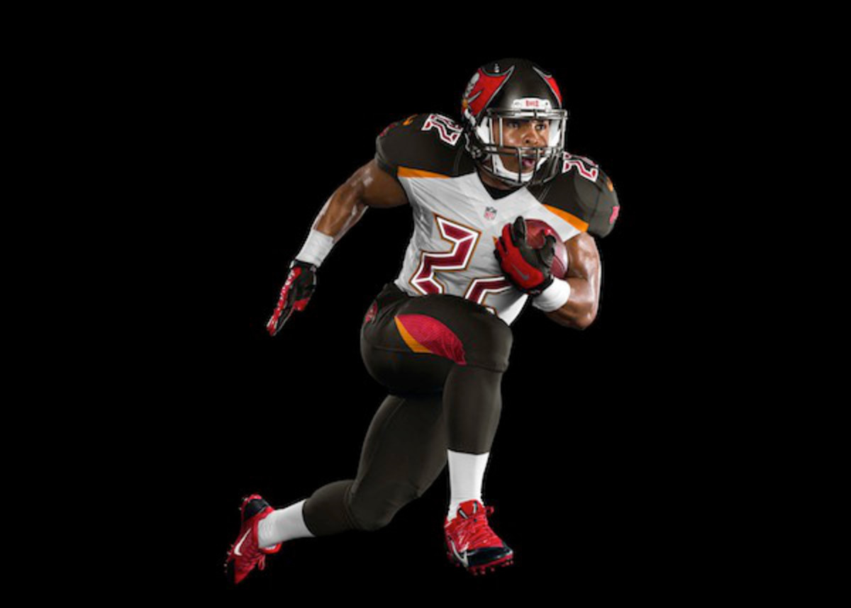 New Tampa Bay Buccaneers uniform features throwback orange, reflective chrome