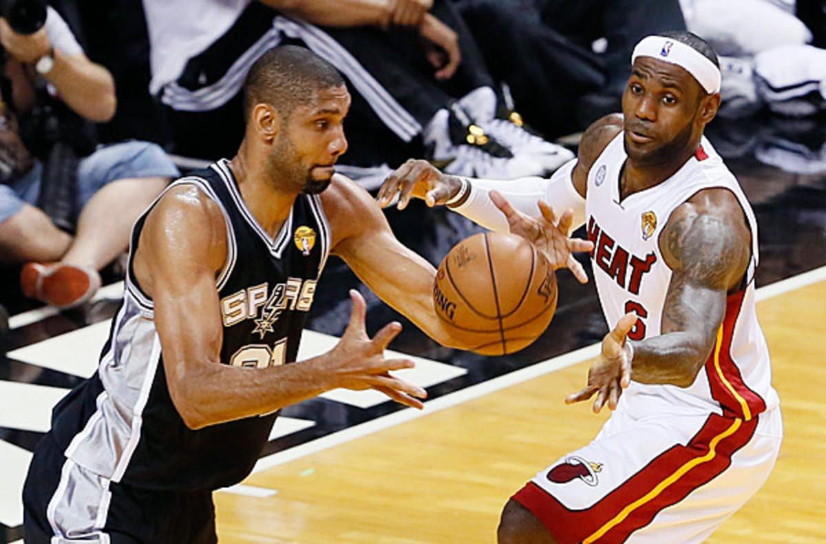 Tim Duncan and LeBron James