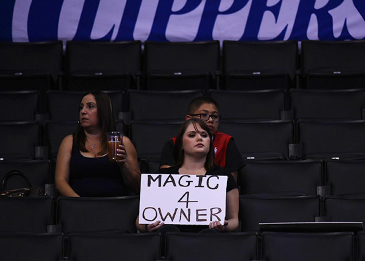 Los Angeles Clippers fans (John W. McDonough/SI)