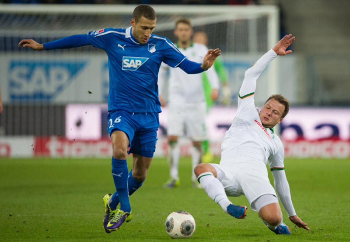 U.S. national team defender/midfielder Fabian Johnson, left, will leave Hoffenheim for Borussia Monchengladbach this summer.