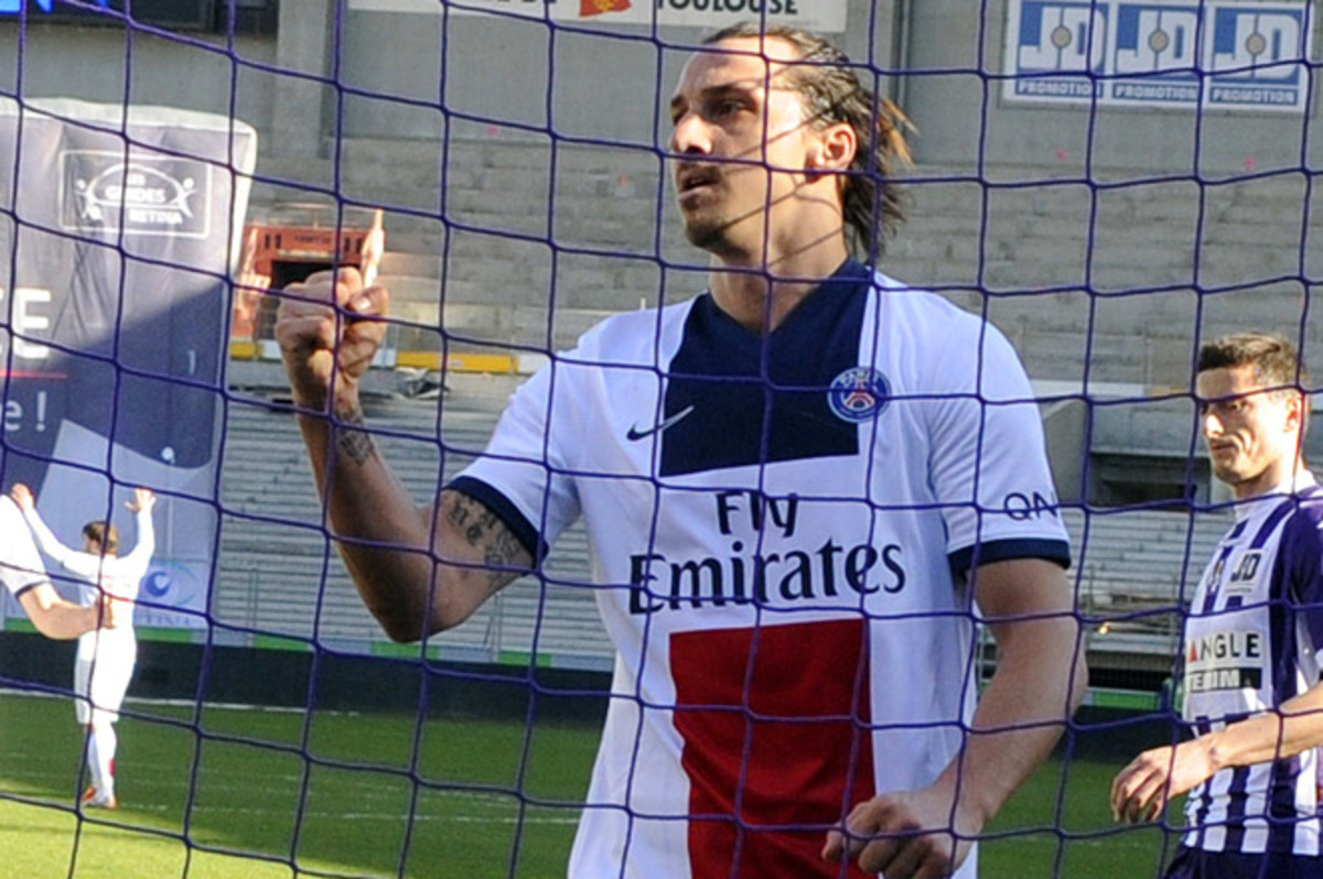 With 22 league goals, Zlatan Ibrahimovic is now closing in on his career-best total of 30 from last season.