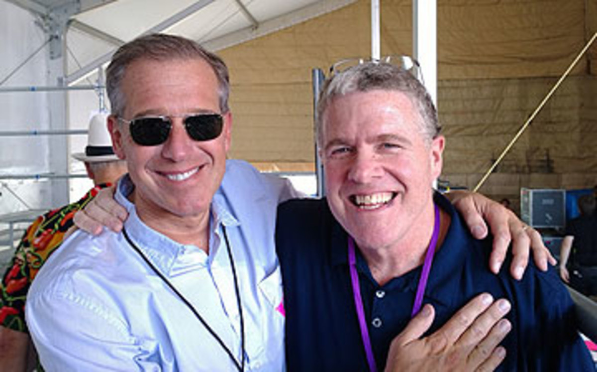 NBC buddies Brian Williams and Peter King enjoyed The Boss in New Orleans. (Photo courtesy of Peter King)