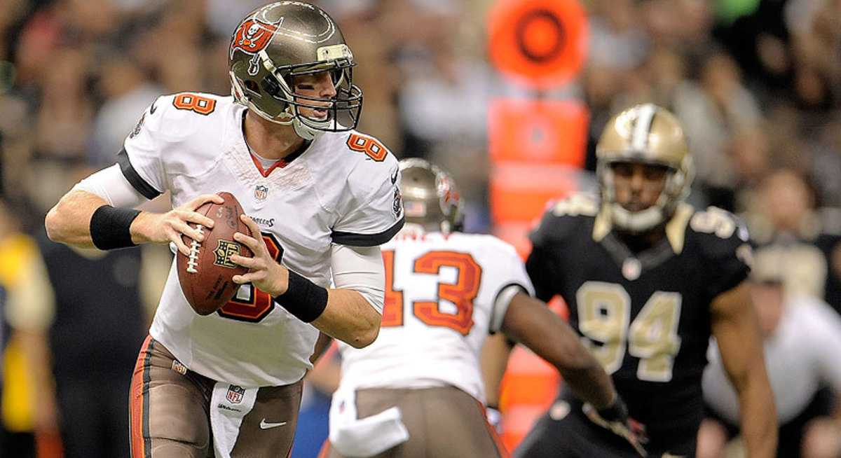 After starting 13 games as a rookie, and going 4-9, Mike Glennon reportedly has been put on the trade block by the Buccaneers. (Stacy Revere/Getty Images)