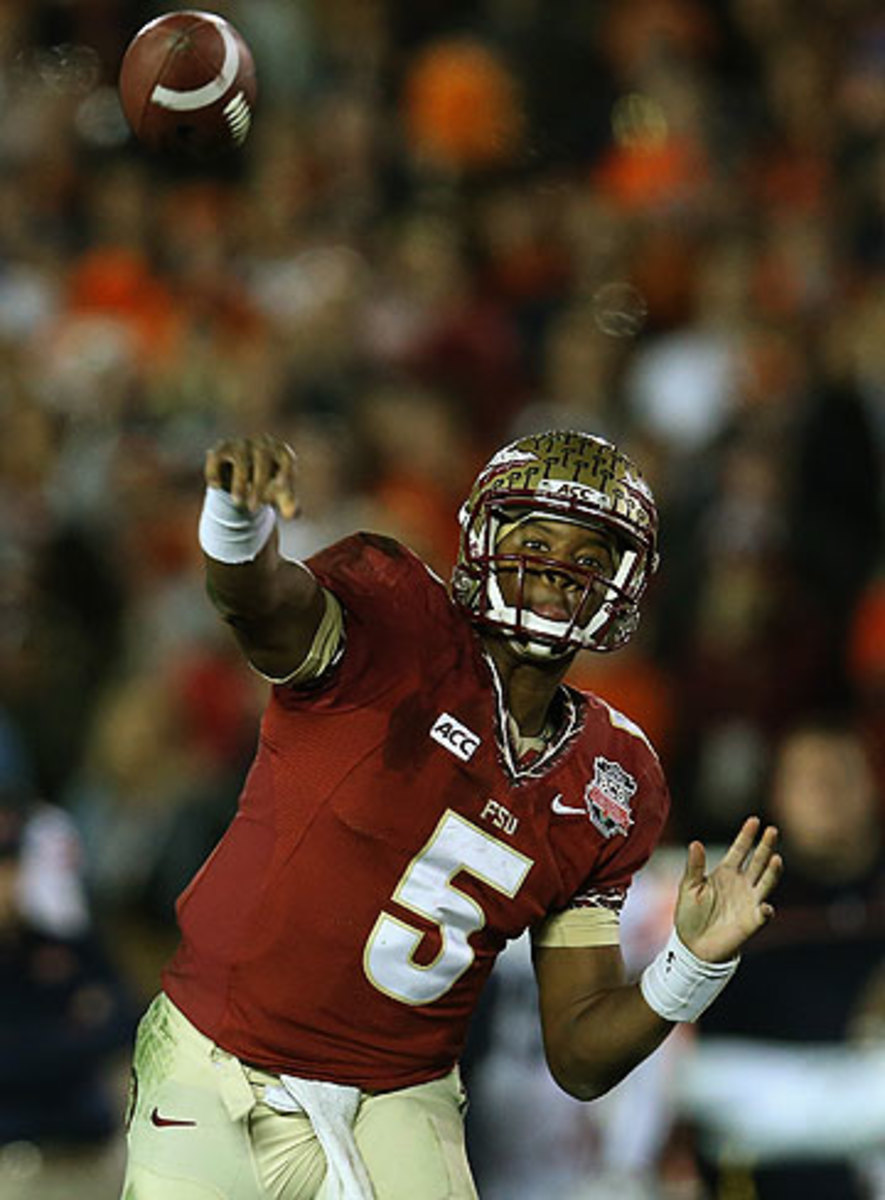 There are conflicting reports over whether Jameis Winston was cited for shoplifting. (Stacy Revere/Getty Images)