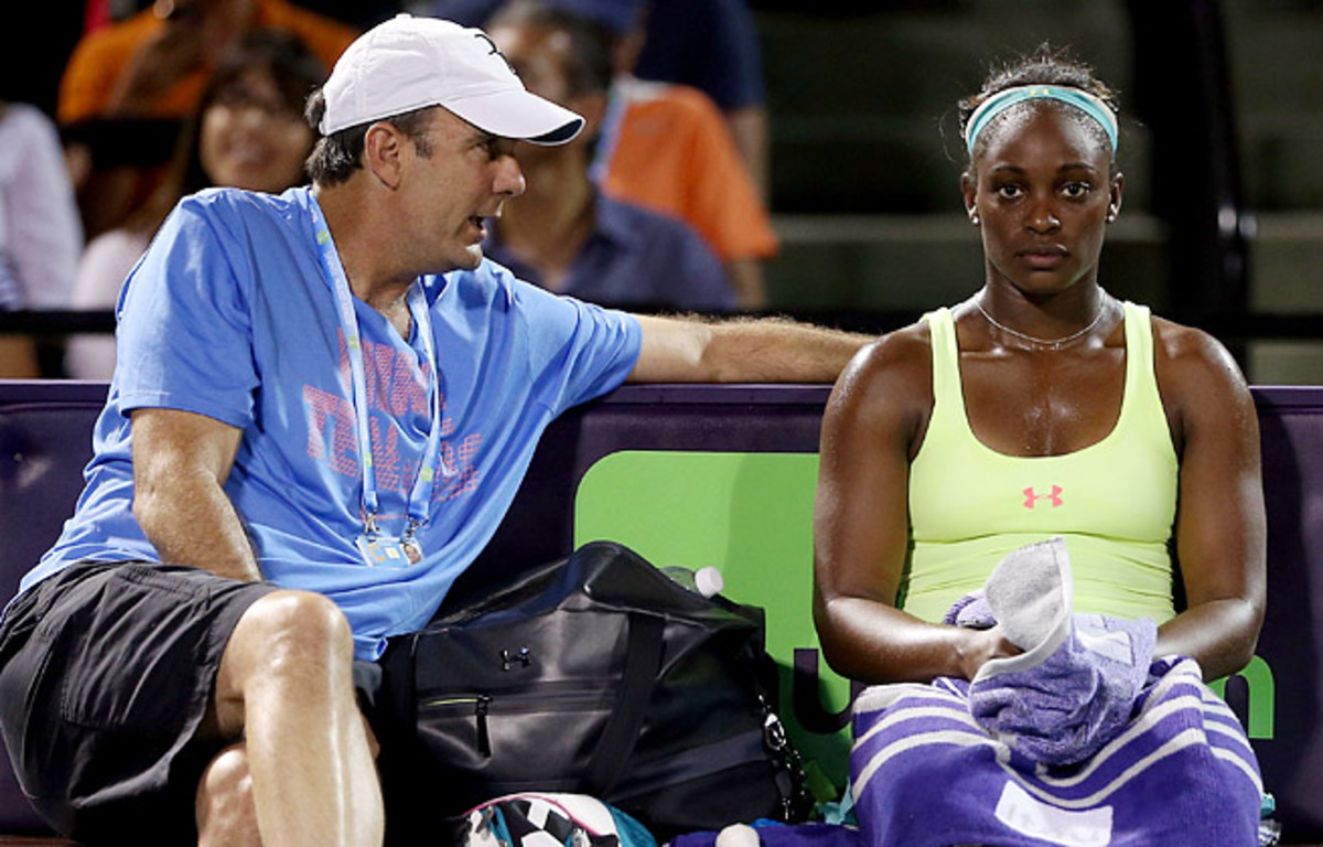 A coaching timeout with Paul Annacone didn't help Sloane Stephens in a desultory loss in Miami.