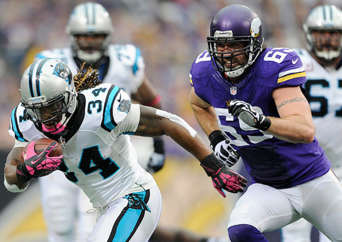 Jared Allen (right) was not traded at the NFL trade deadline.