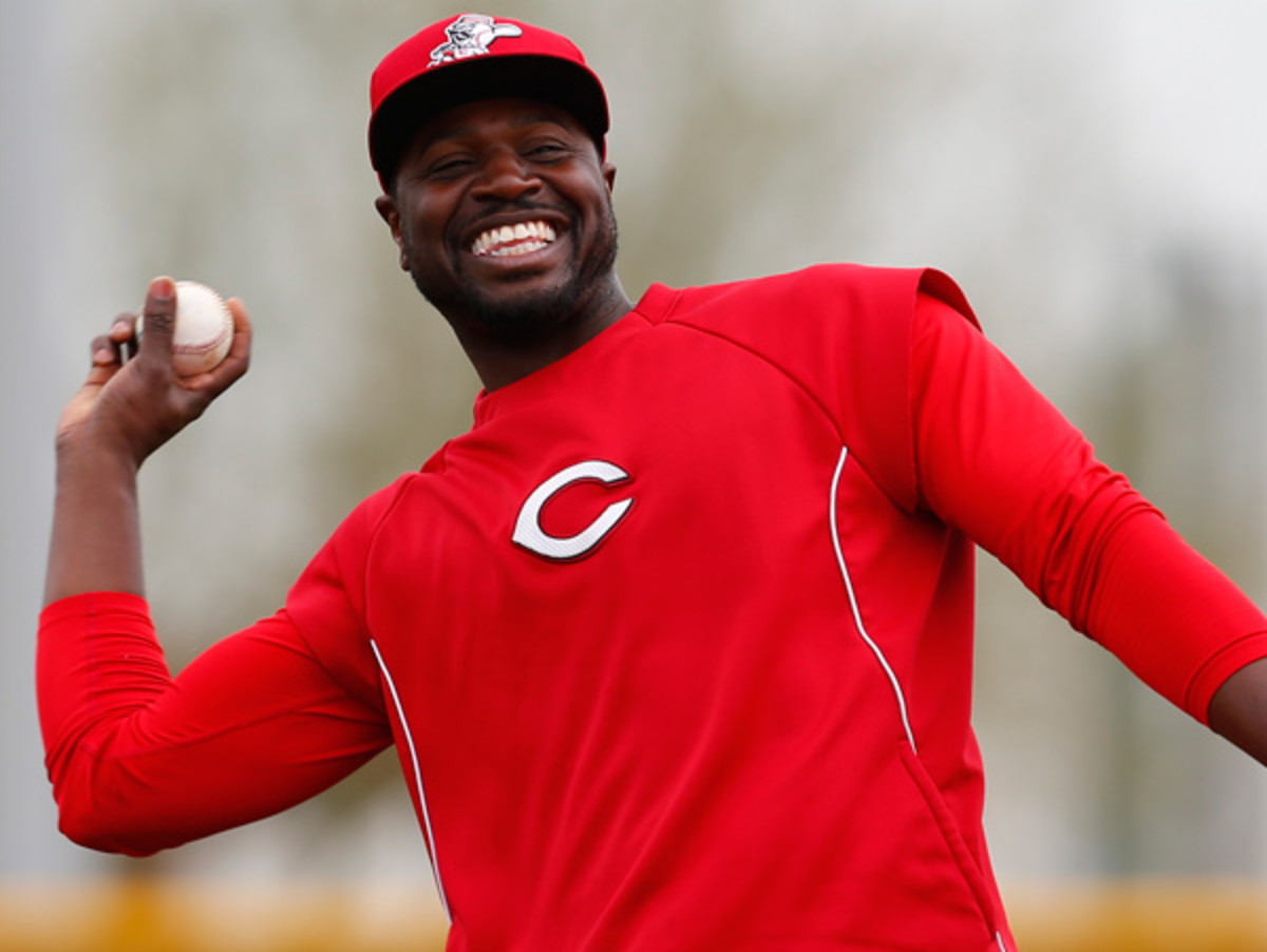 Brandon Phillips, seen here in happier times during spring training. (Paul Sancya/AP)