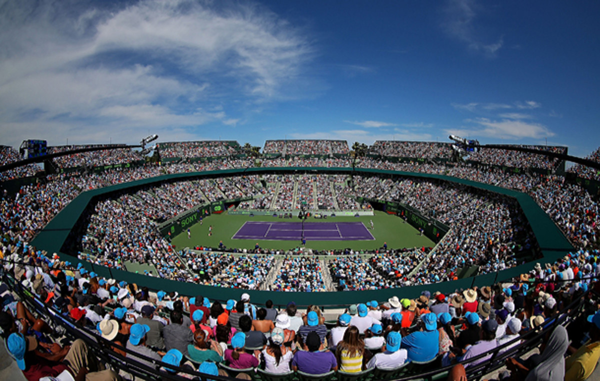 A view of the Stadium in Key Biscayne. (Mike Ehrmann/Getty Images)