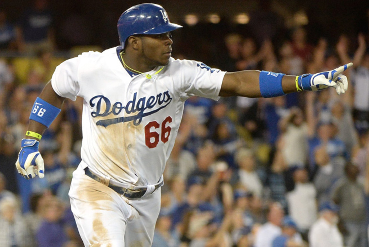 After a slow start to the year, Yasiel Puig has a .326 batting average to go with seven home runs.