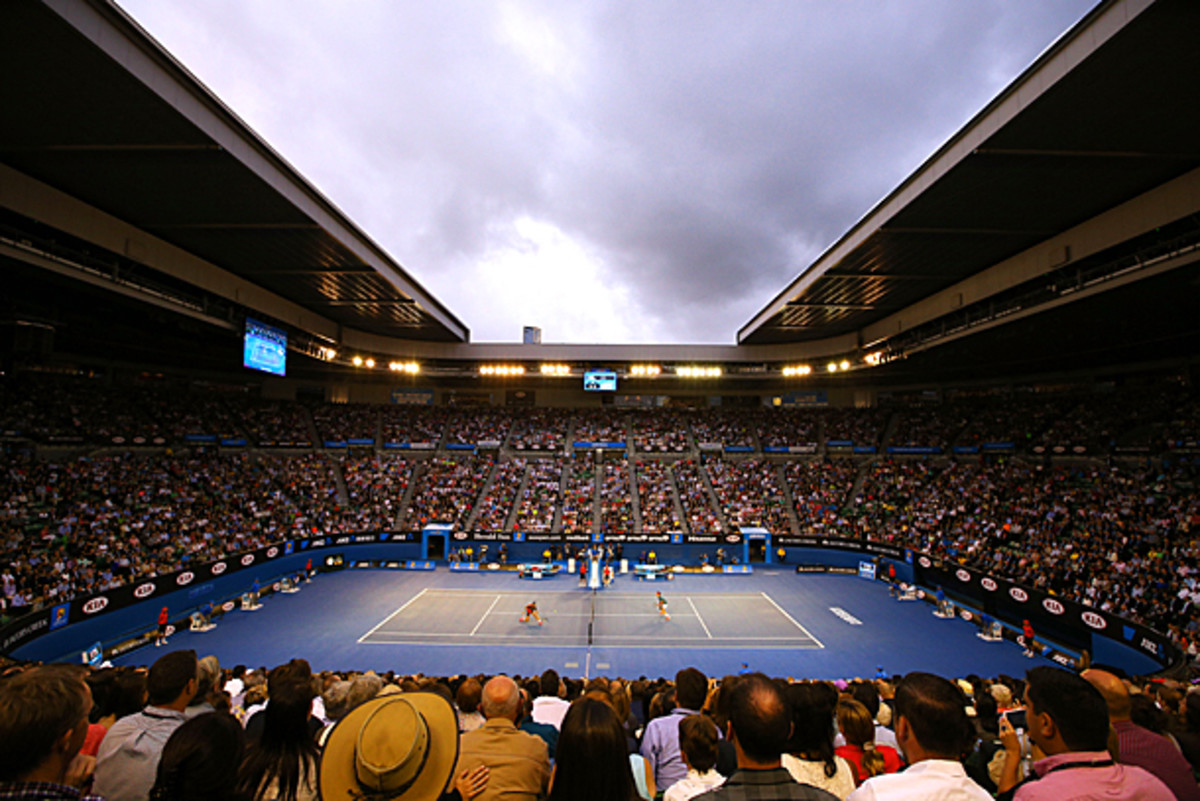 After a bit of a struggle, the roof at Rod Laver Arena is now fully open. (Michael Dodge/Getty Images)