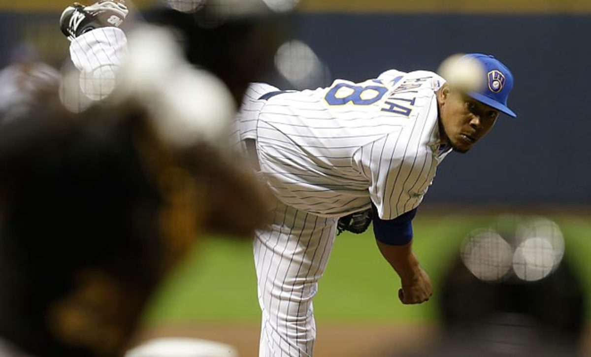Wily Peralta's strong start makes him a good candidate to pick up in fantasy leagues.