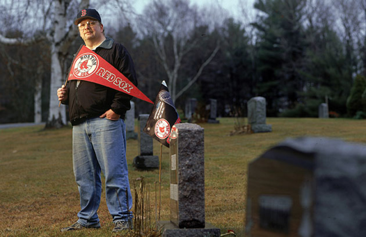 Red Sox fans often made pilgrimages to visit the gravesites of loved ones after the team's long-awaited triumph.