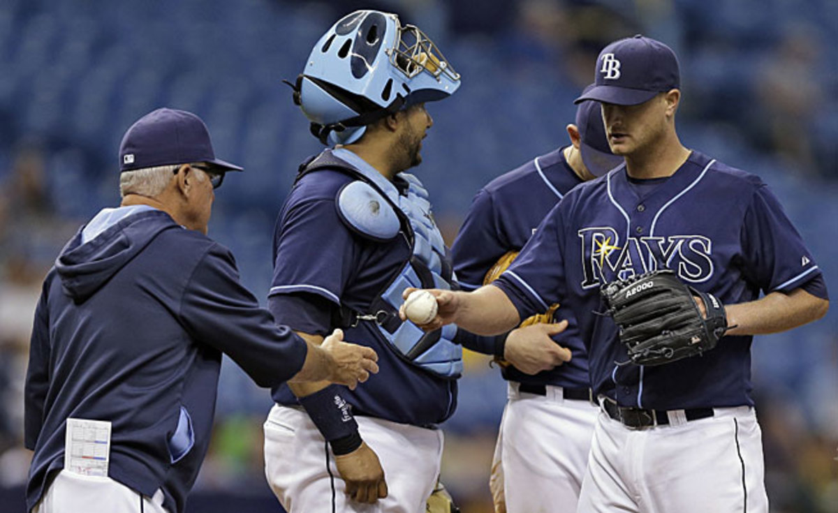 Catcher Jose Molina is one of the prime culprits making the Rays the slowest team in baseball.