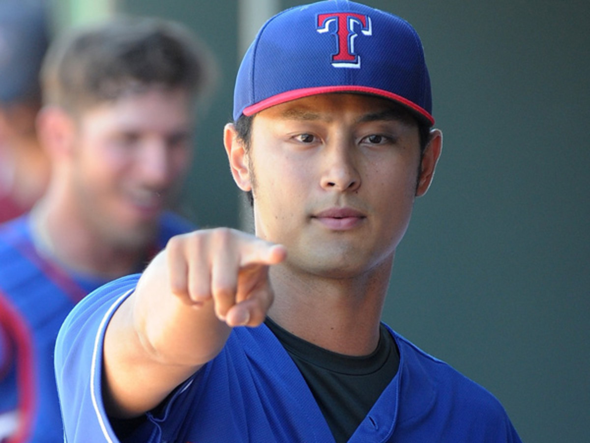 Yu Darvish wants YOU to replace him in Texas' rotation. (Lisa Blumenfeld/Getty Images)