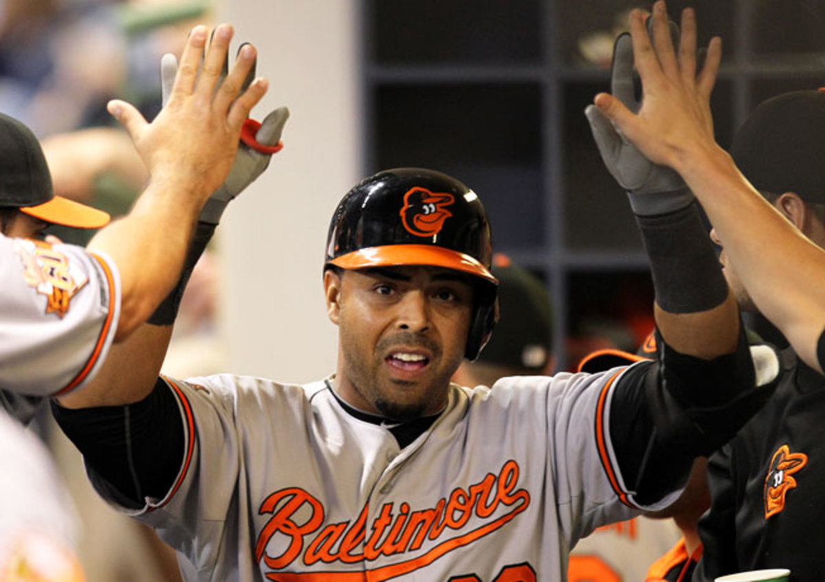 Nelson Cruz clubbed his major league-leading 19th home run in Wednesday's game versus the Brewers.