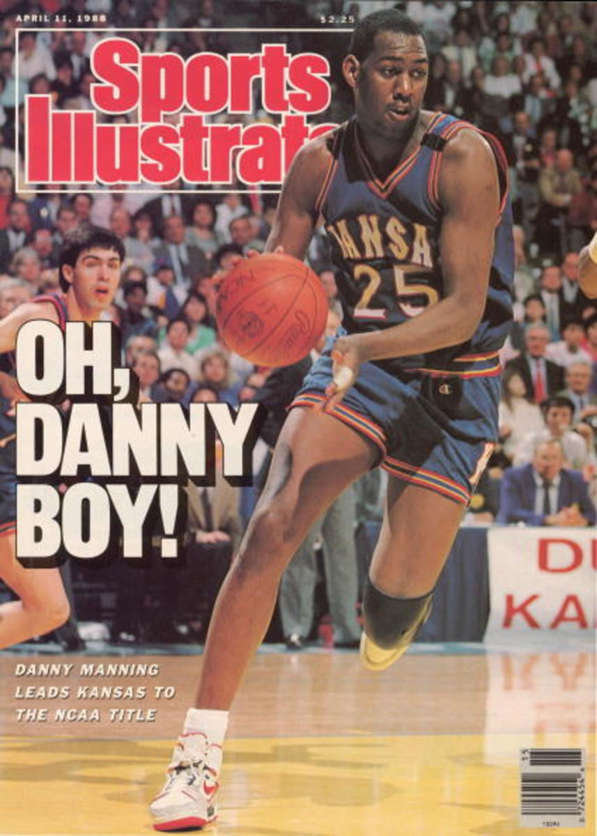 Danny Manning of the 1988 Kansas championship team on the cover of SI.