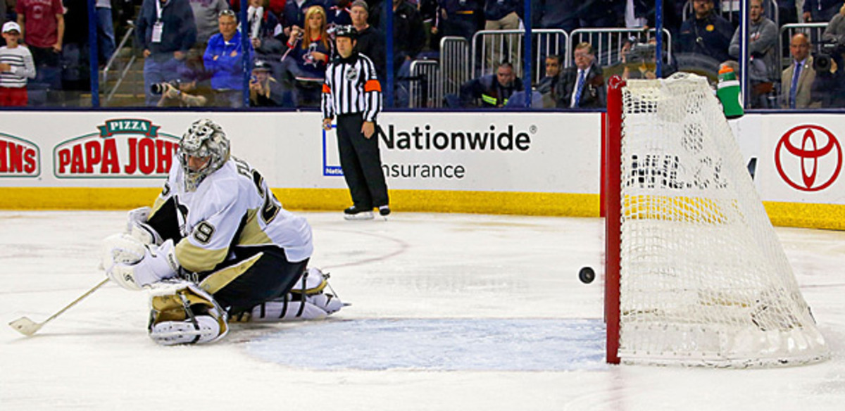 Marc-Andre Fleury of the Pittsburgh Penguins is melting down in the playoffs again.