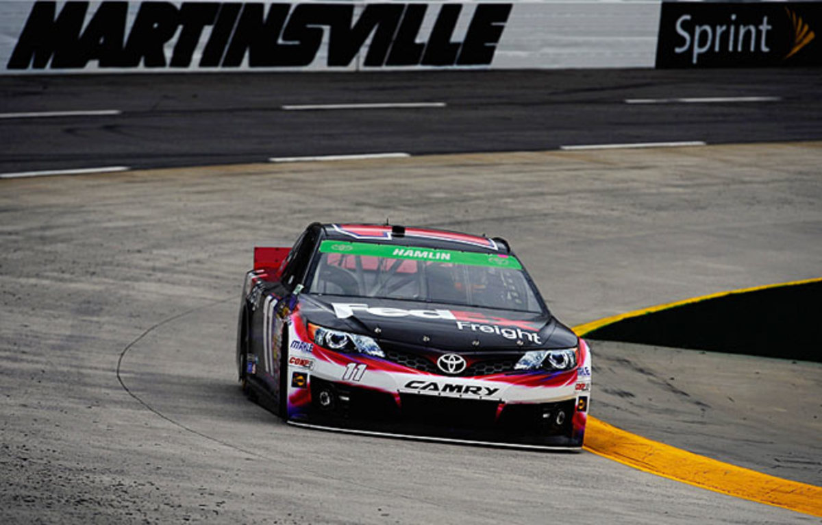 Denny Hamlin has had a difficult time getting back up to speed after suffering a back injury last season.