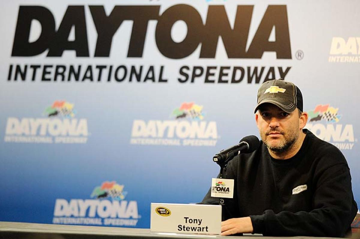 Tony Stewart, who missed driving while laid up by a broken leg, returns to his love on Valentine's Day.