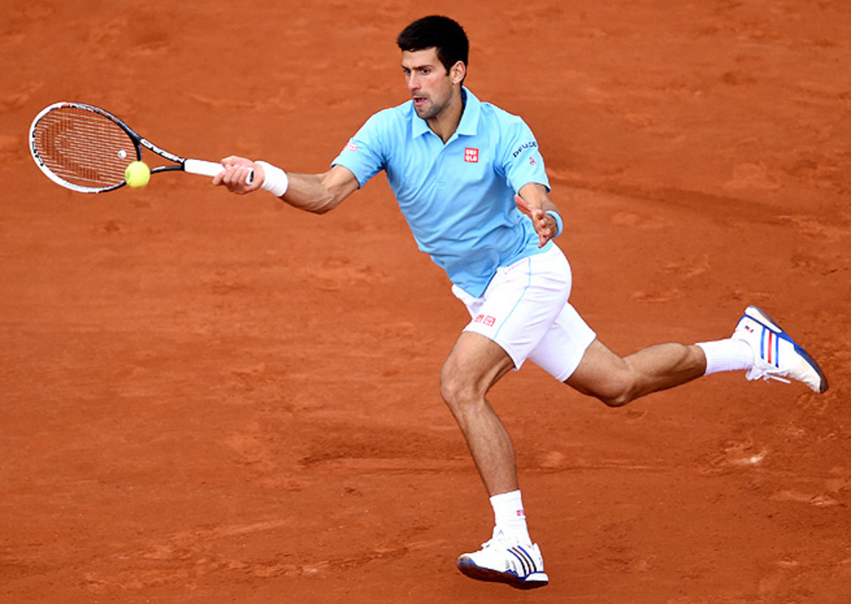 Novak Djokovic, who's looking to complete his career Grand Slam, beat Jeremy Chardy in round two.
