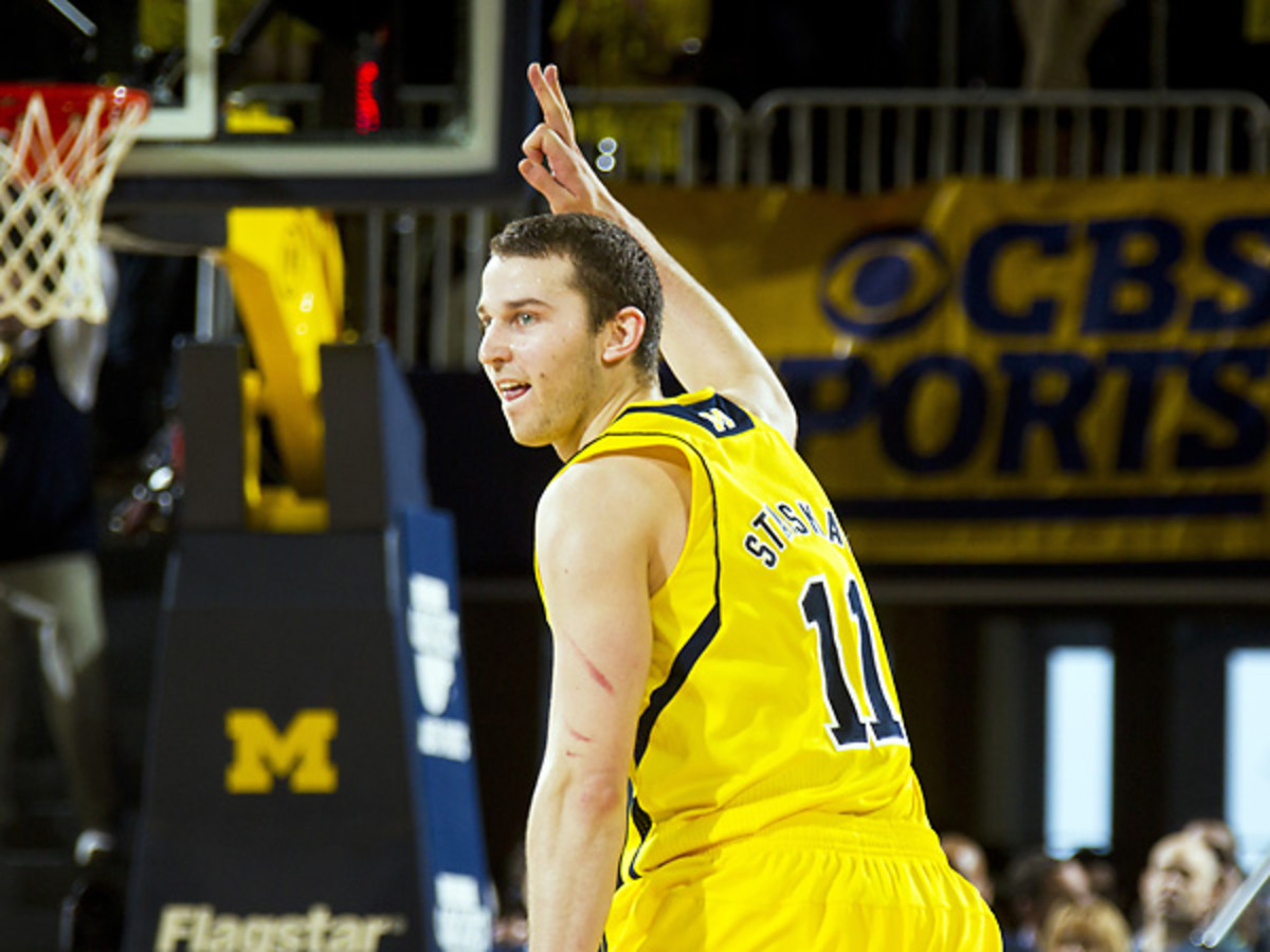 Nik Stauskas was tremendous once again as Michigan topped Michigan State. (Tony Ding/AP)
