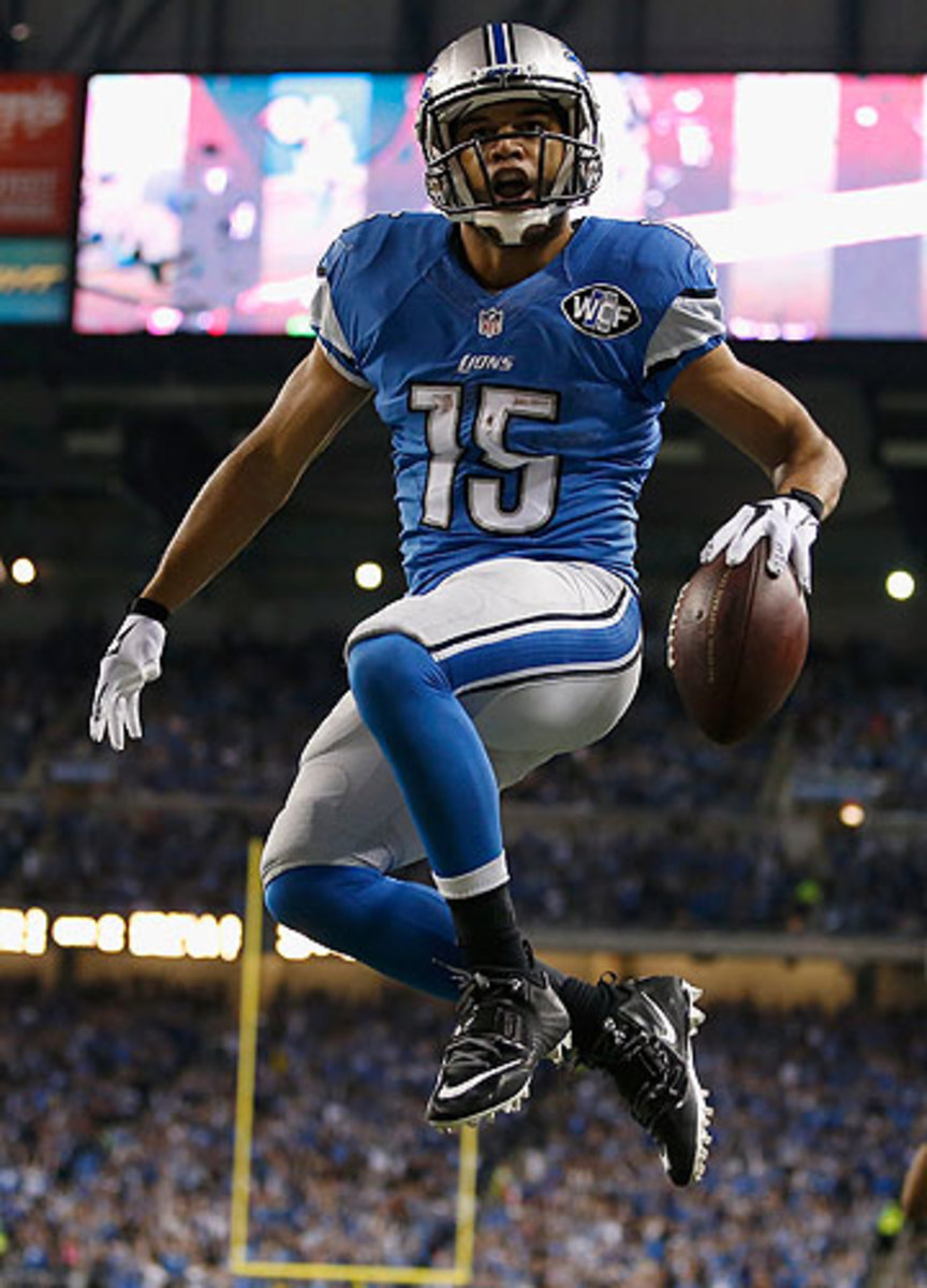 Golden Tate ranks fifth in the NFL in catches with 91 and seventh in yards with 1,224. (Gregory Shamus/Getty Images)
