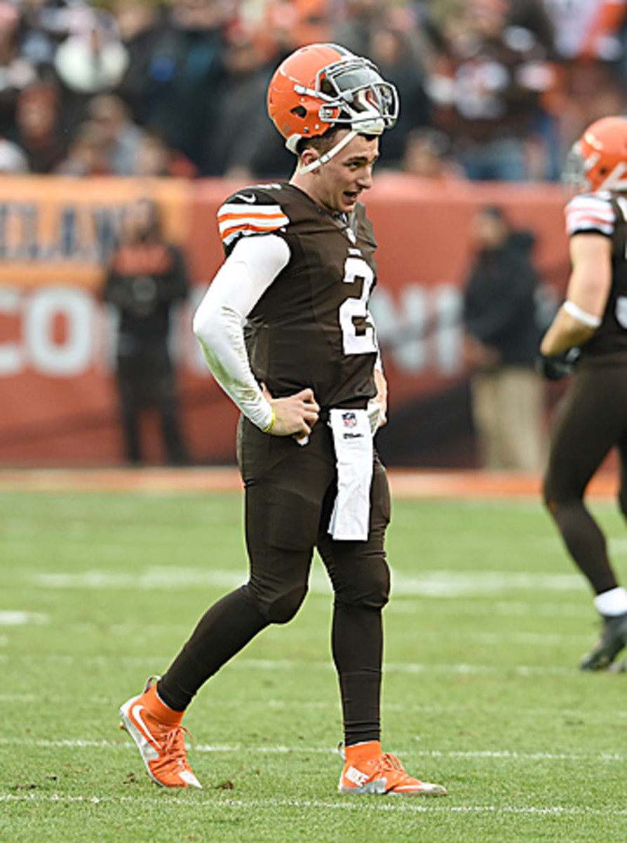 Manziel's first career start when as poorly as it possibly could have. (Jason Miller/Getty Images)