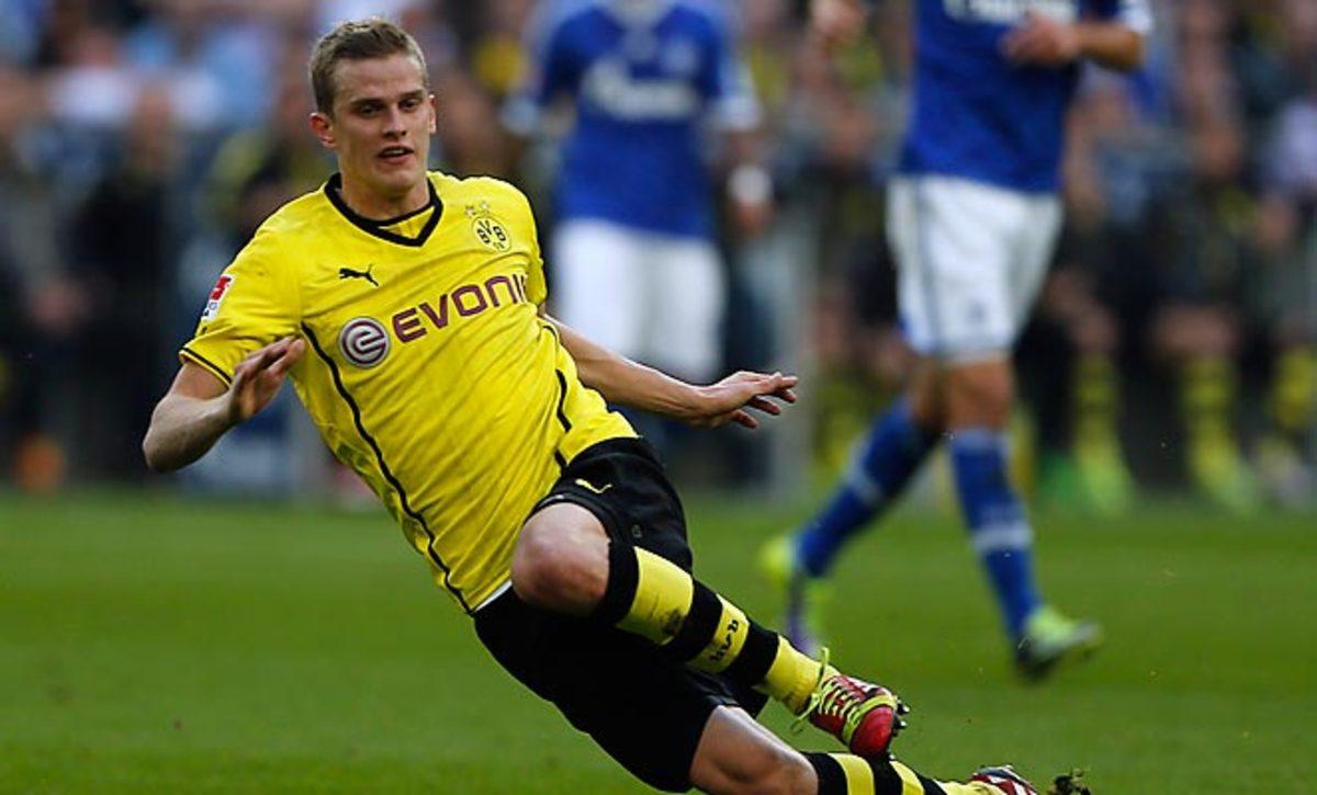 Sven Bender is a regular starter in the Dortmund midfield, having appeared in 19 Bundesliga games thsis season.