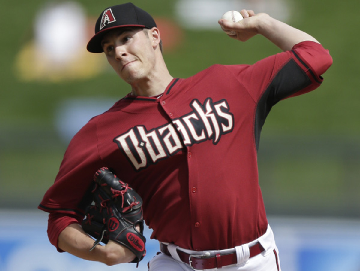 Patrick Corbin's season is in jeopardy due to a partially torn elbow ligament. (Gregory Bull/AP)